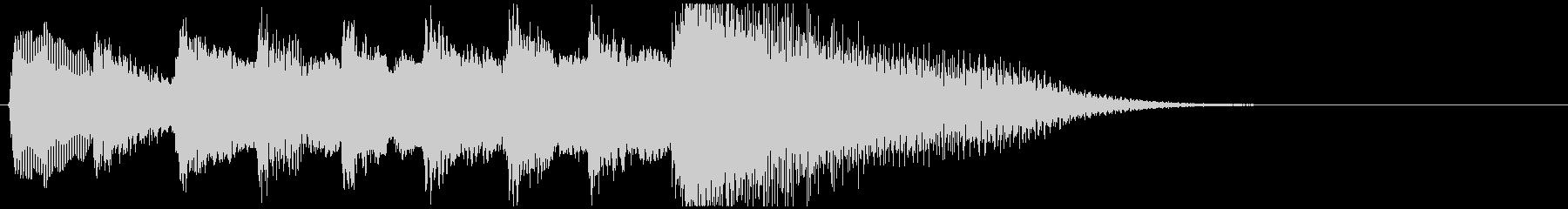 琴のシンプルなジングルの未再生の波形