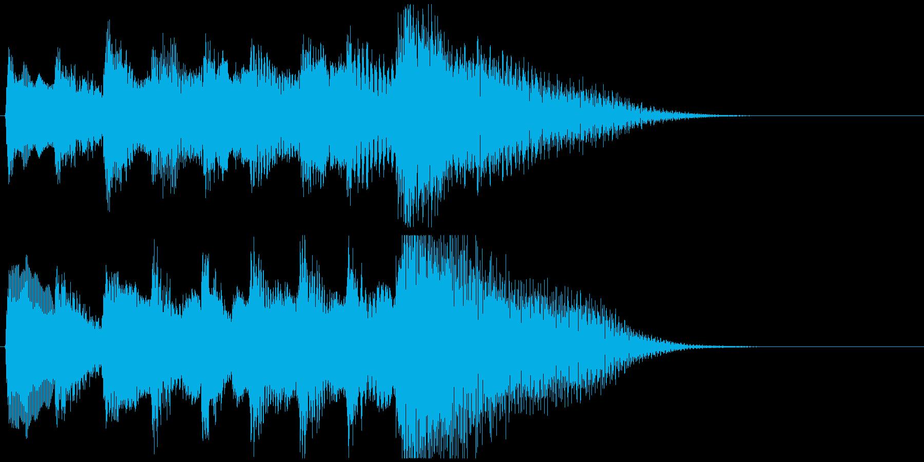 琴のシンプルなジングルの再生済みの波形