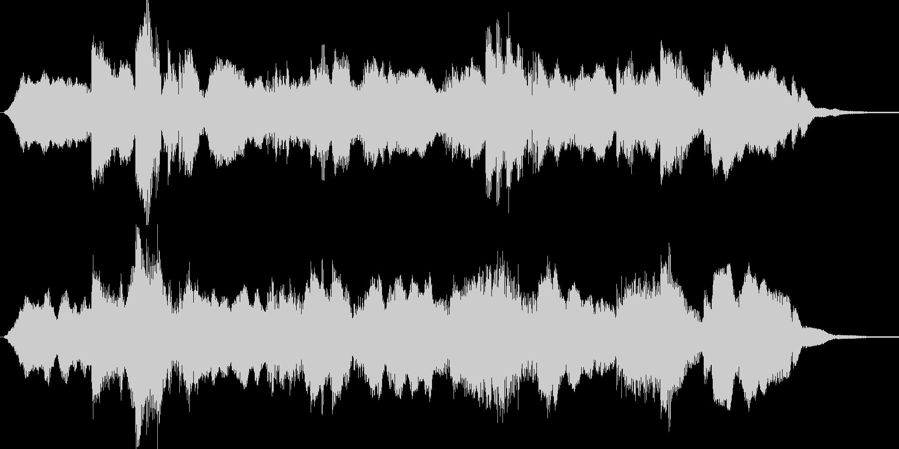 ゆったりした目覚めの短めBGMの未再生の波形
