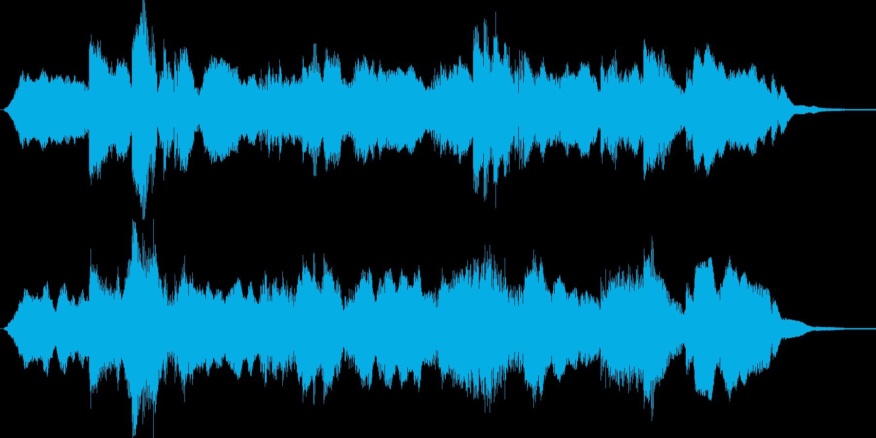 ゆったりした目覚めの短めBGMの再生済みの波形