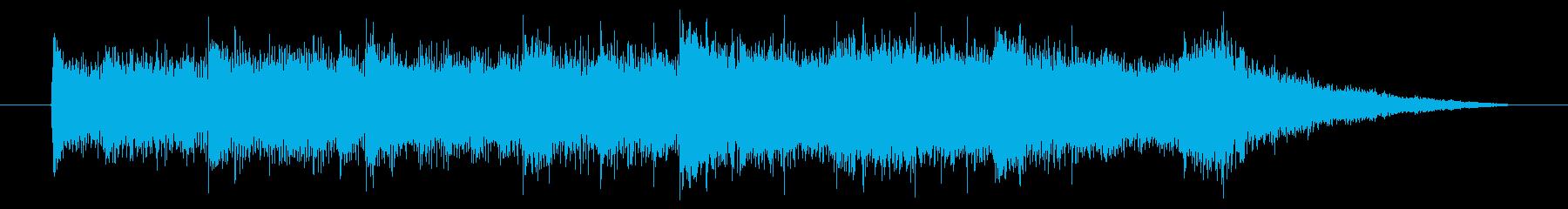 柔らかさを感じる15秒のBGMの再生済みの波形