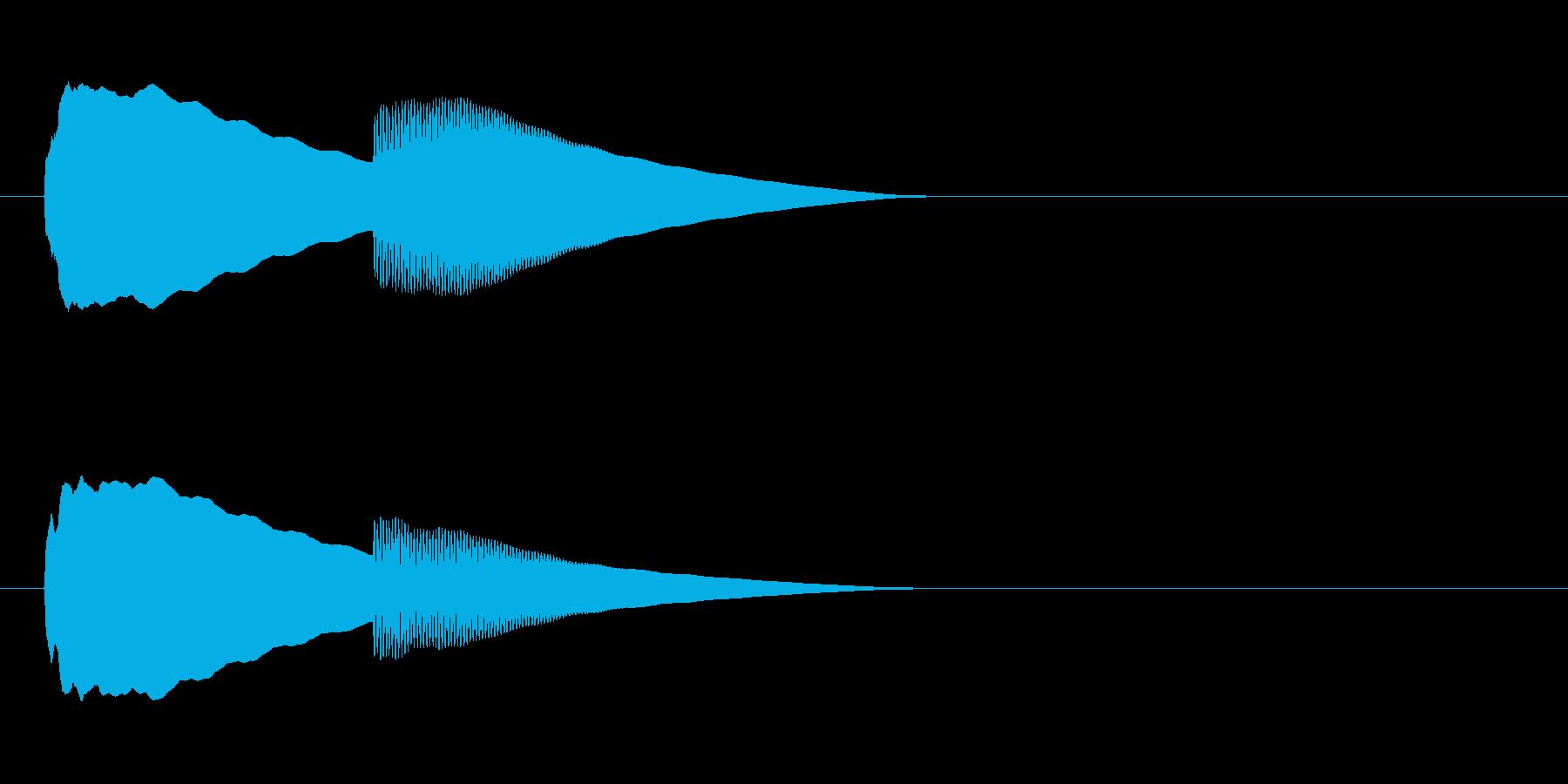 【ドアベル ピンポン01-2】の再生済みの波形