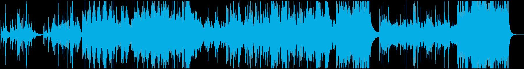 広がりのある壮大な和風BGMの再生済みの波形