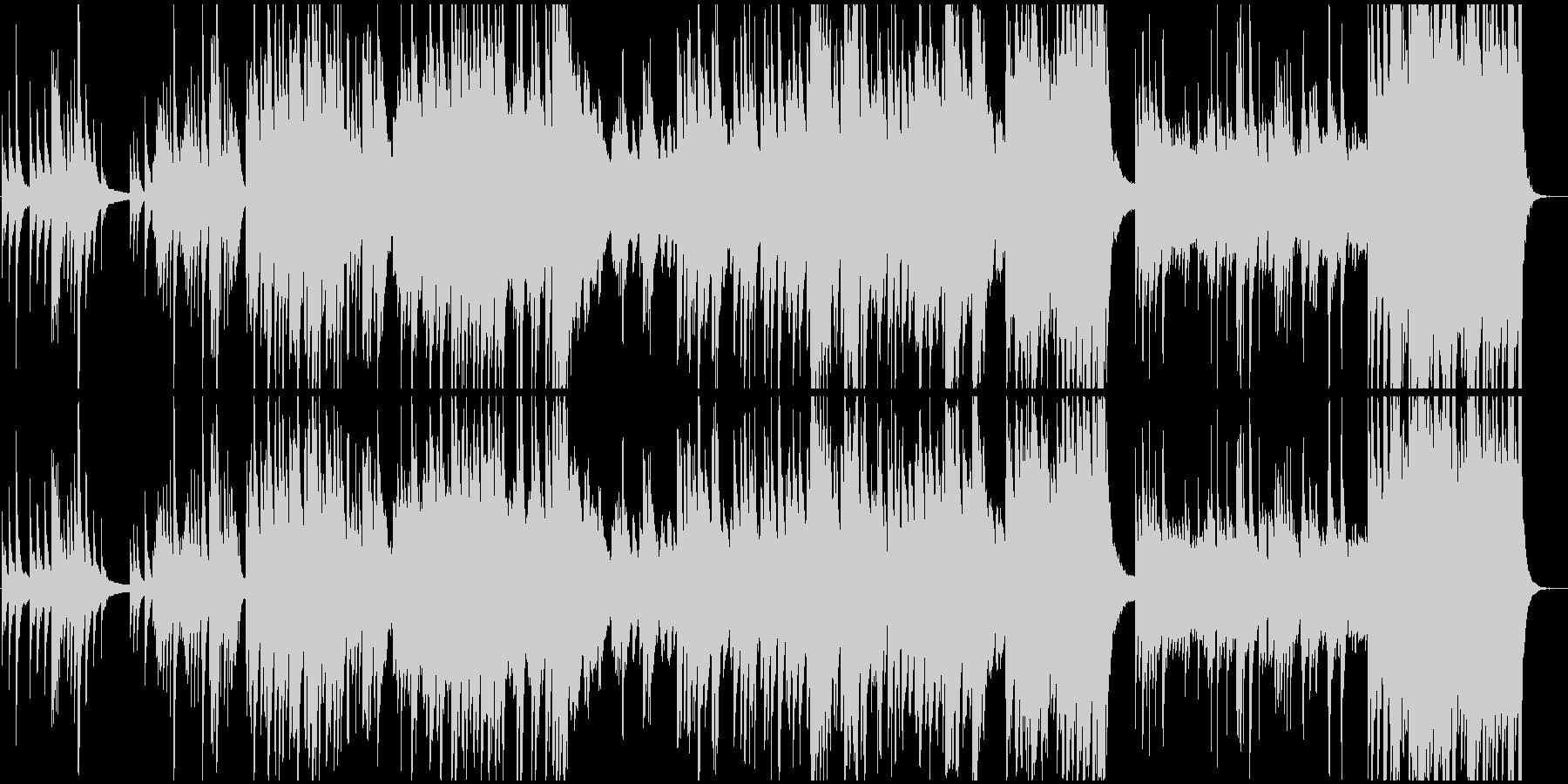 広がりのある壮大な和風BGMの未再生の波形