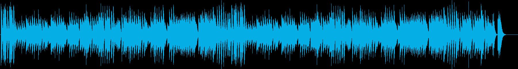 楽しい冬を描いたワルツ調のピアノBGMの再生済みの波形
