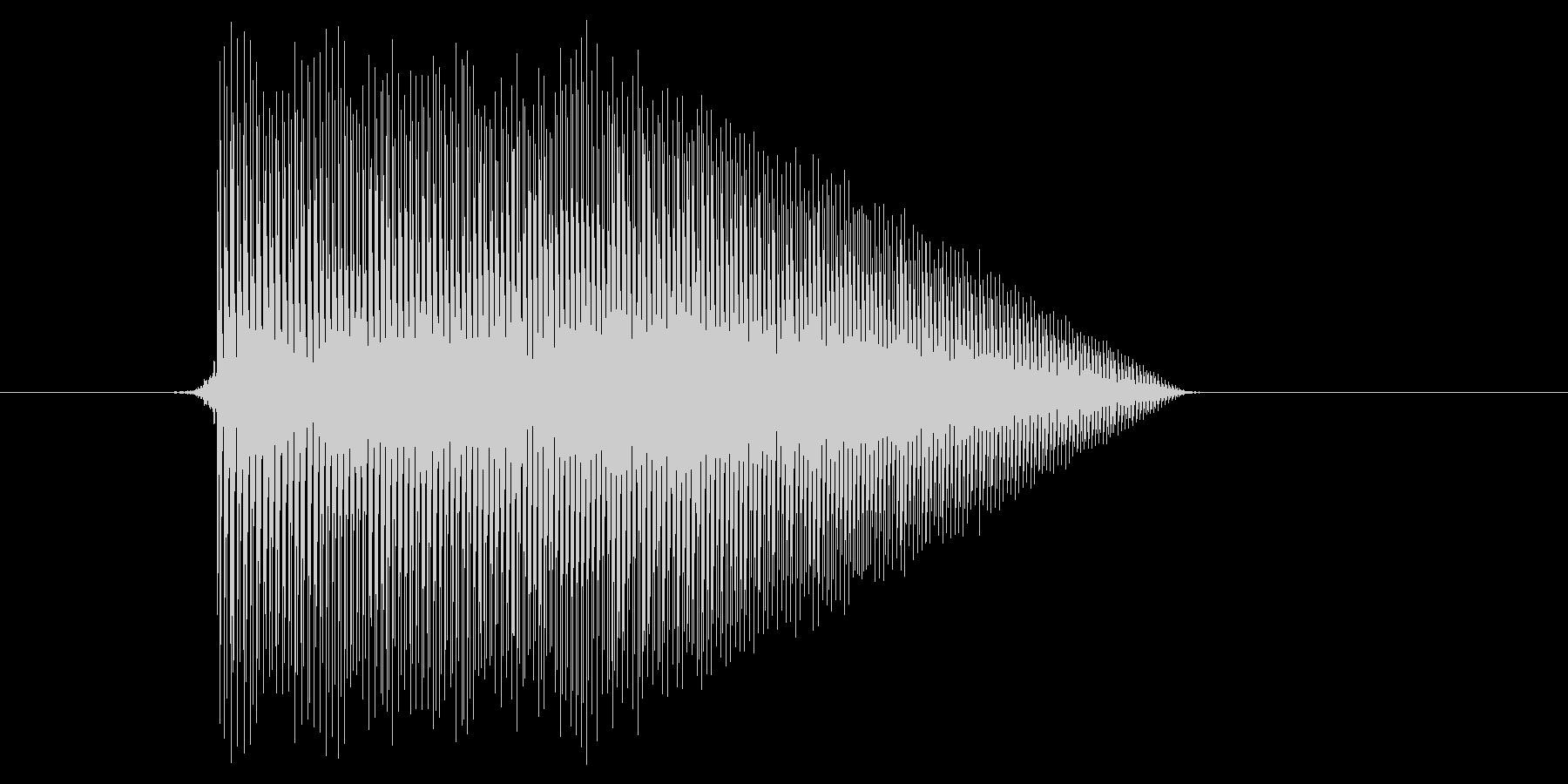 ゲーム(ファミコン風)ジャンプ音_042の未再生の波形