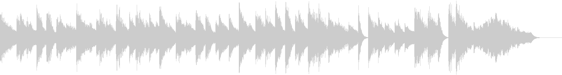 ゆるいブルースリラックスピアノジングルの未再生の波形