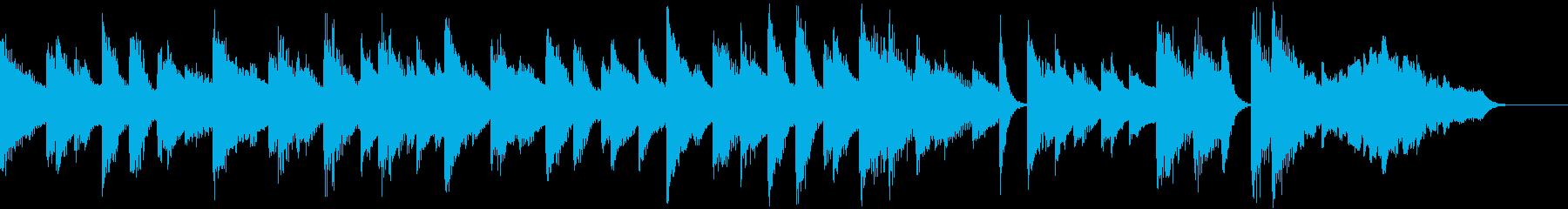 ゆるいブルースリラックスピアノジングルの再生済みの波形
