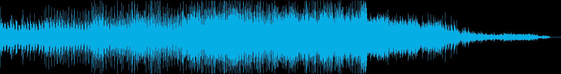 映像などに使える 綺麗で落ち着いた曲の再生済みの波形