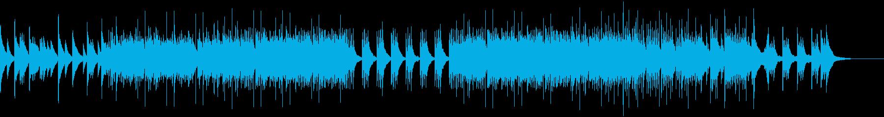穏やかで少し切ないピアノとストリングス曲の再生済みの波形