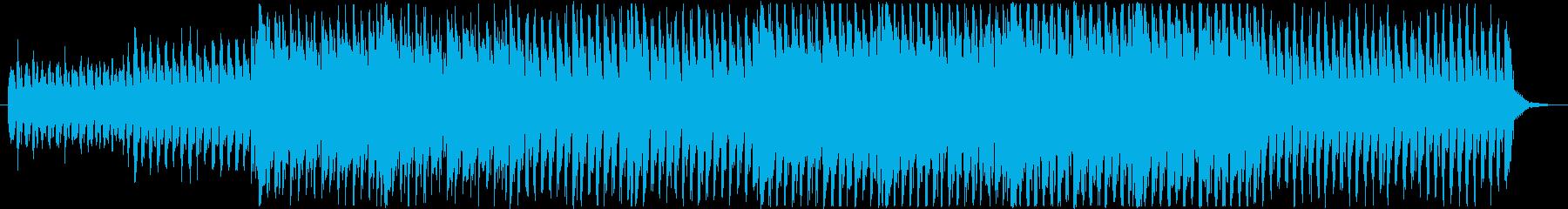 一生懸命働く人々を見守るフルート楽曲の再生済みの波形