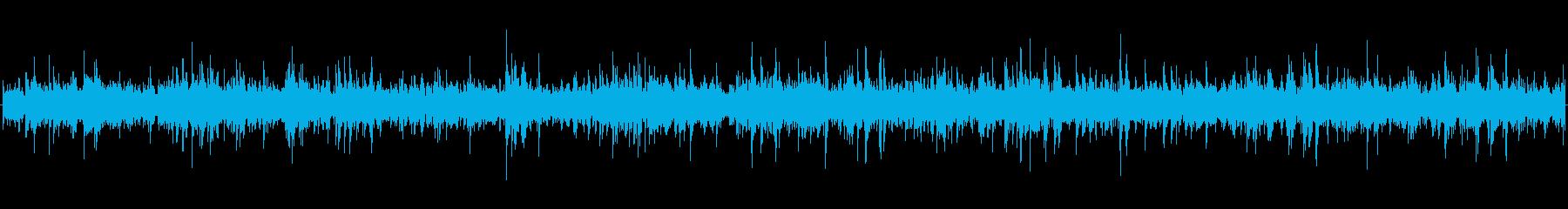 水中シーンの臨場感UP用の効果音の再生済みの波形