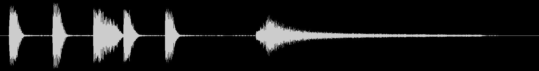 短いピアノサウンドロゴ_エンディング用にの未再生の波形