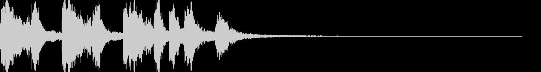 ファンシーポップな可愛いジングルの未再生の波形