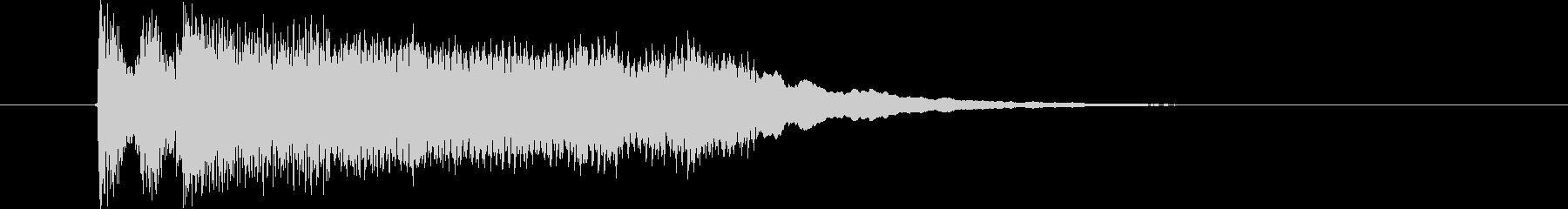 迫力と勢いあるジングルの未再生の波形