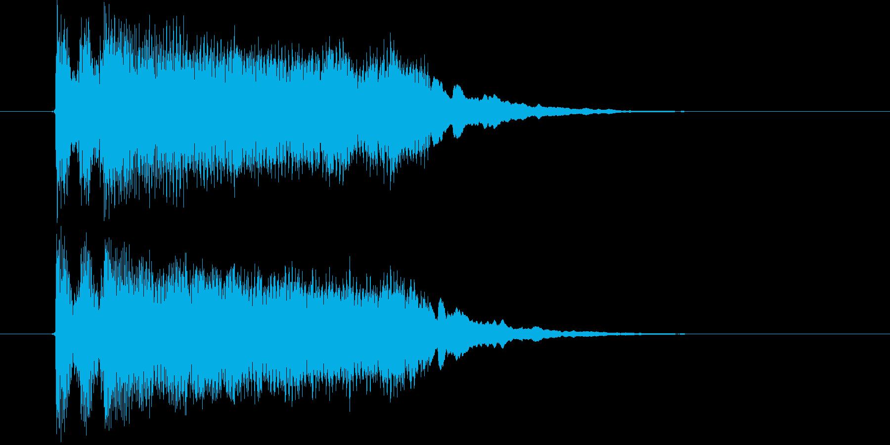 迫力と勢いあるジングルの再生済みの波形