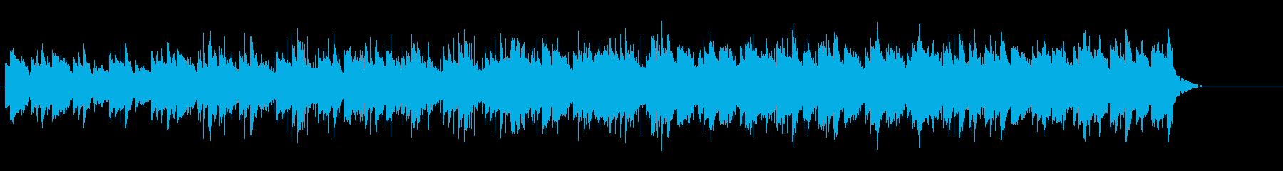 ピアノとマリンバの落ち着く夏のジングルの再生済みの波形