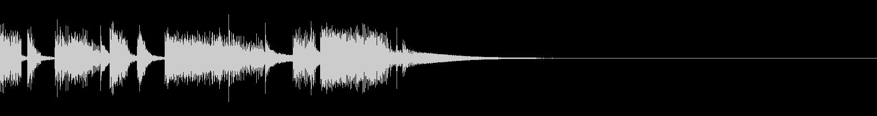 エレピがメインのジングルの未再生の波形