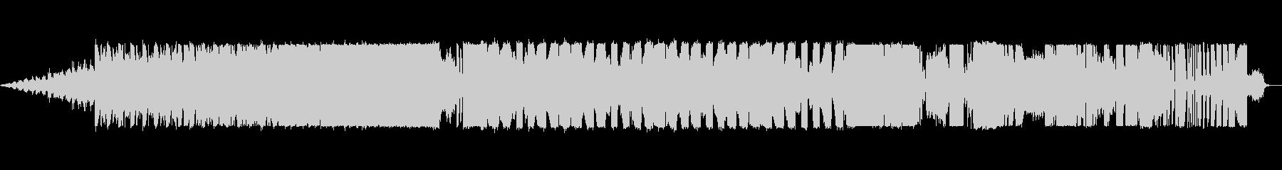 不気味なホラー・ハロウィン風EDM楽曲の未再生の波形