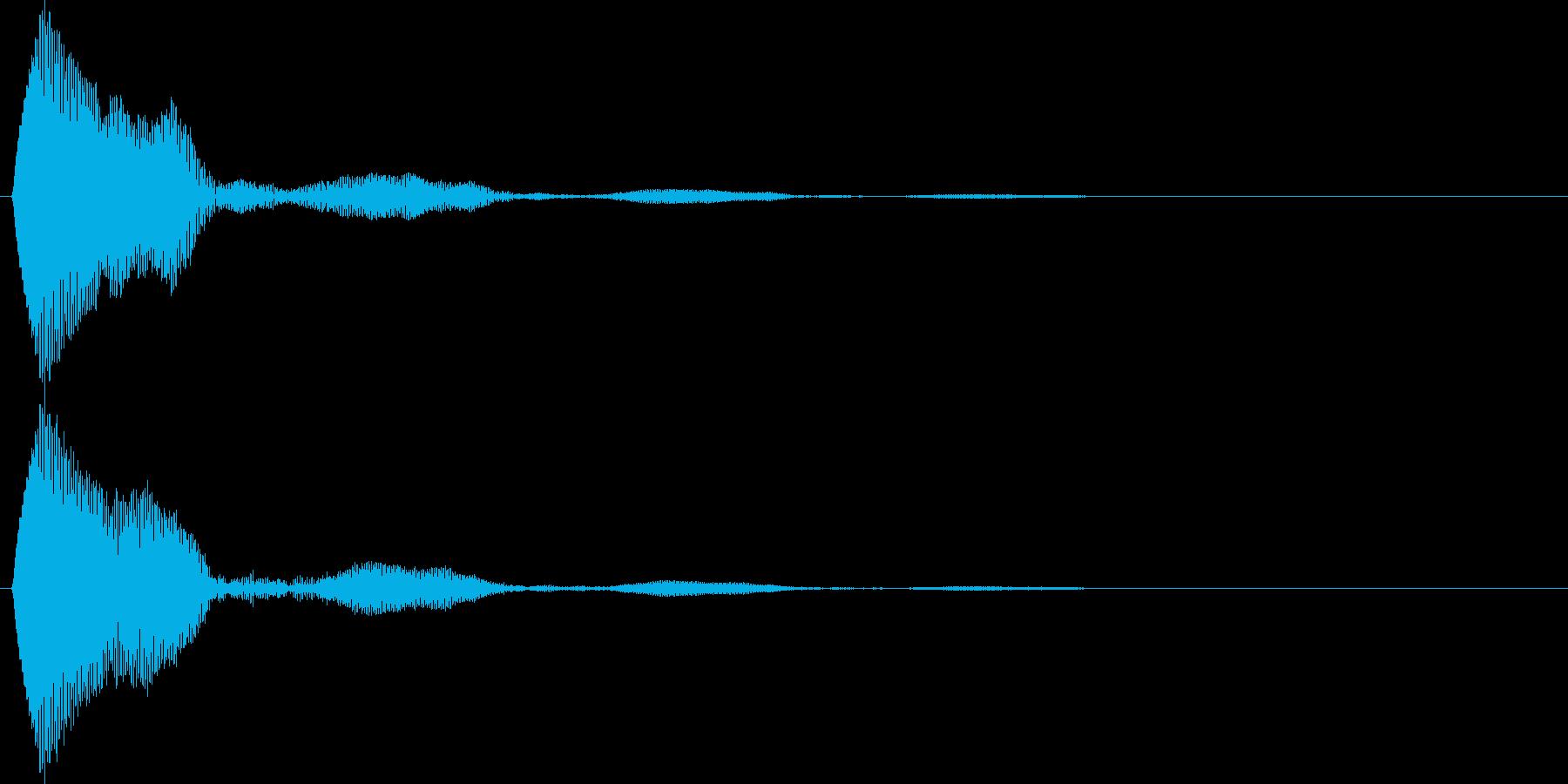 キャンセル音 タッチやポップアップ等の再生済みの波形