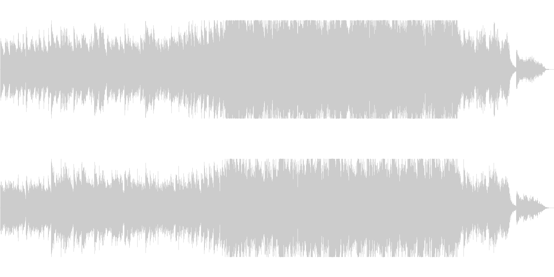ポジティブなピアノバラードの未再生の波形