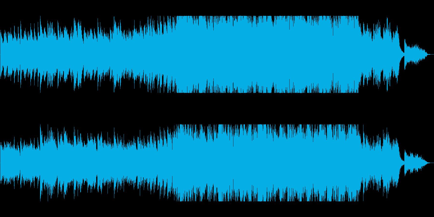 ポジティブなピアノバラードの再生済みの波形