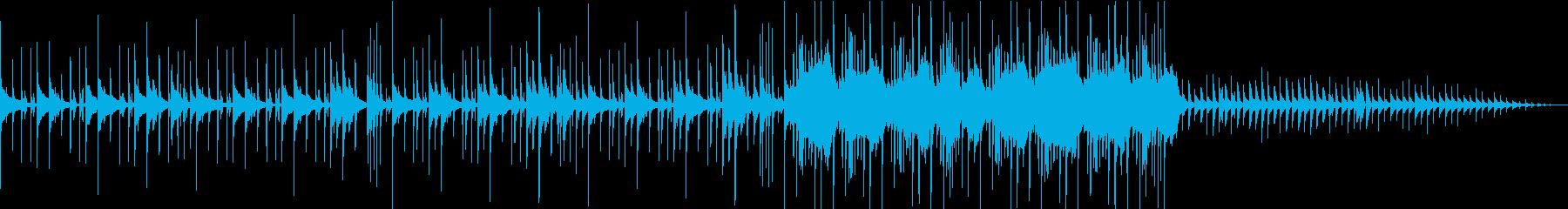 ほのぼのハッピーエンドな雰囲気の曲の再生済みの波形