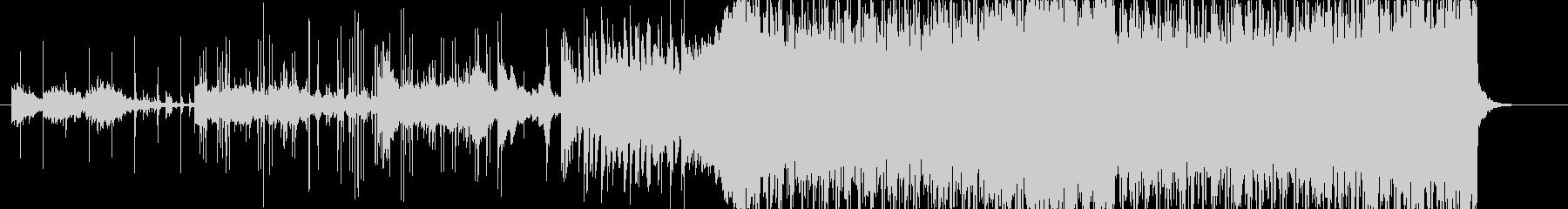 激しいデジタルロックの未再生の波形