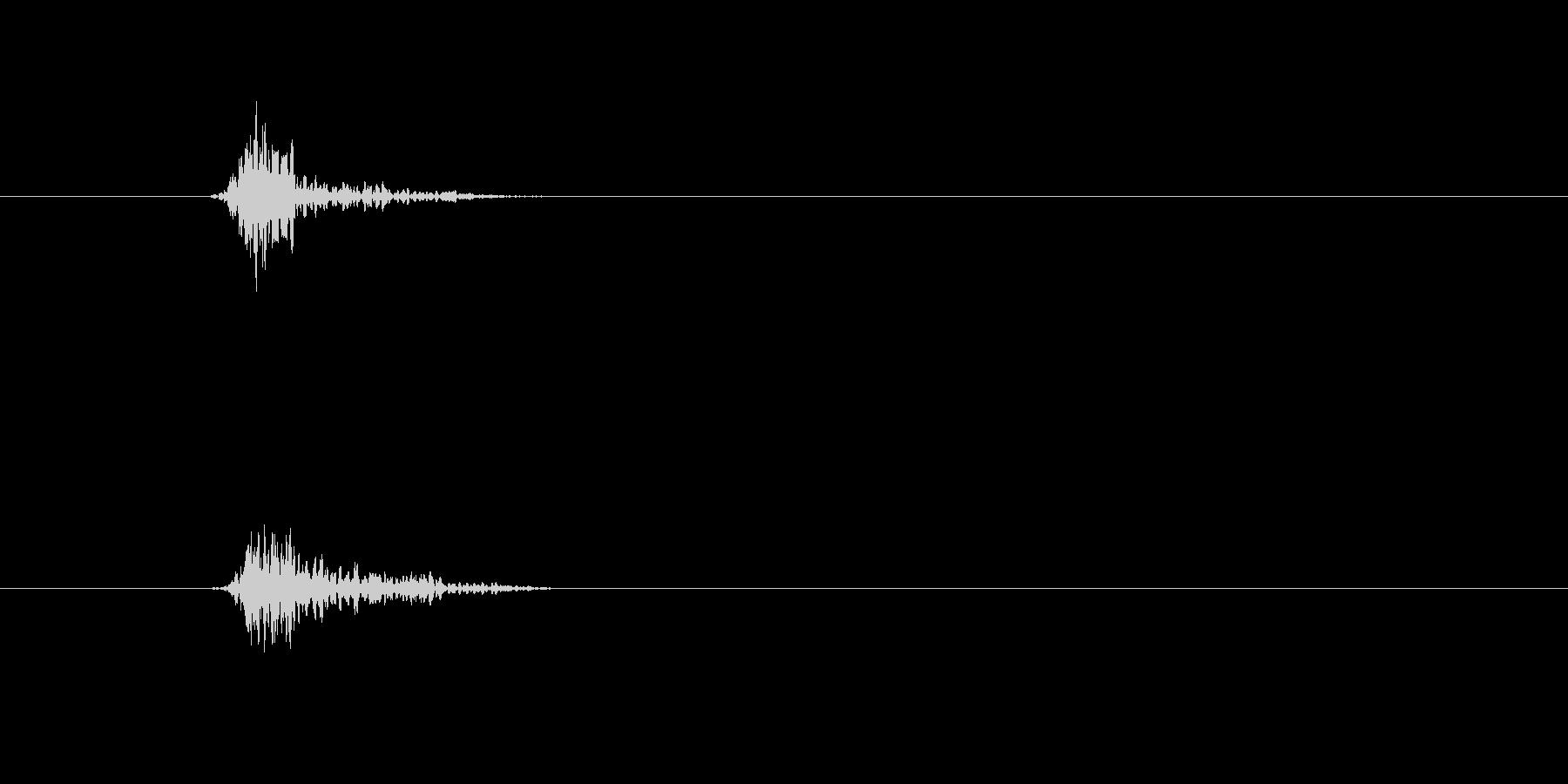 ヒュッ 剣を振り回す音 素振りの音 空…の未再生の波形