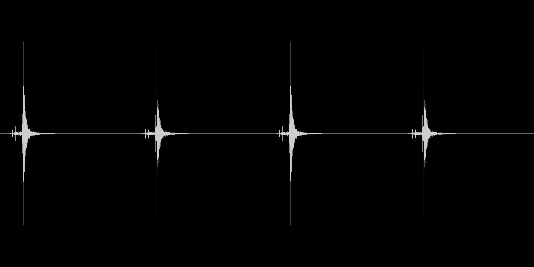 時計の秒針の音 1C の未再生の波形