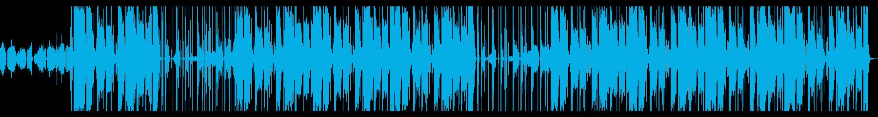 メロディアスR&Bニュー・ソウルインストの再生済みの波形