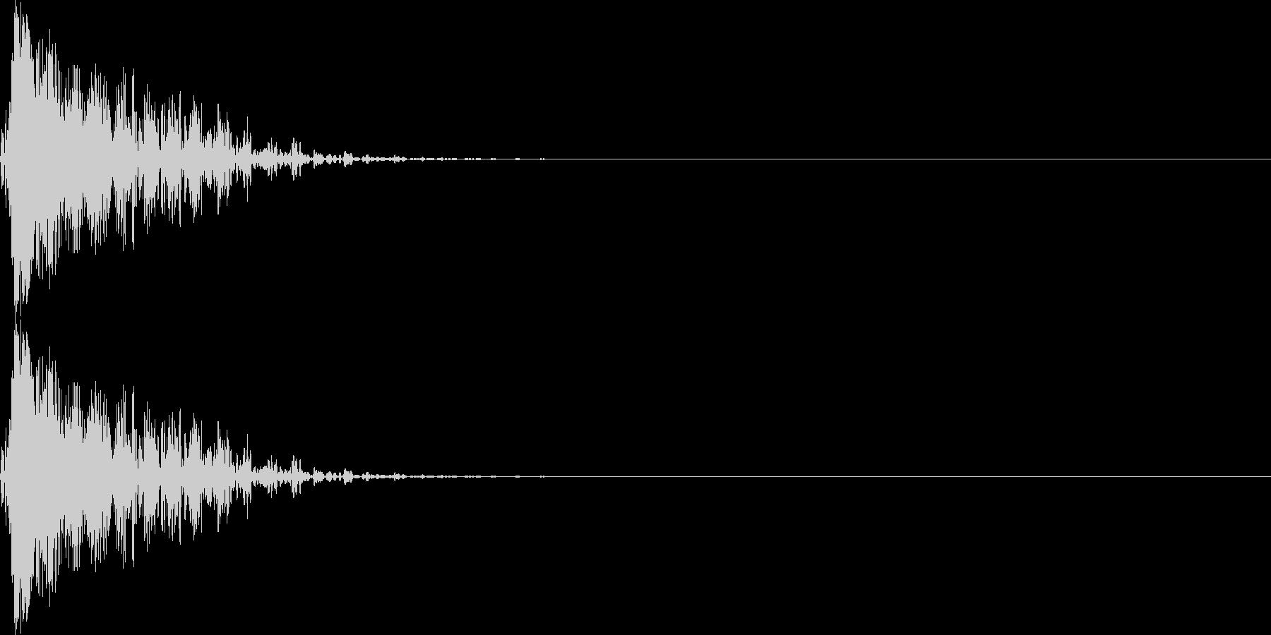 ブン(マイナスイメージ_ミス_短い)の未再生の波形