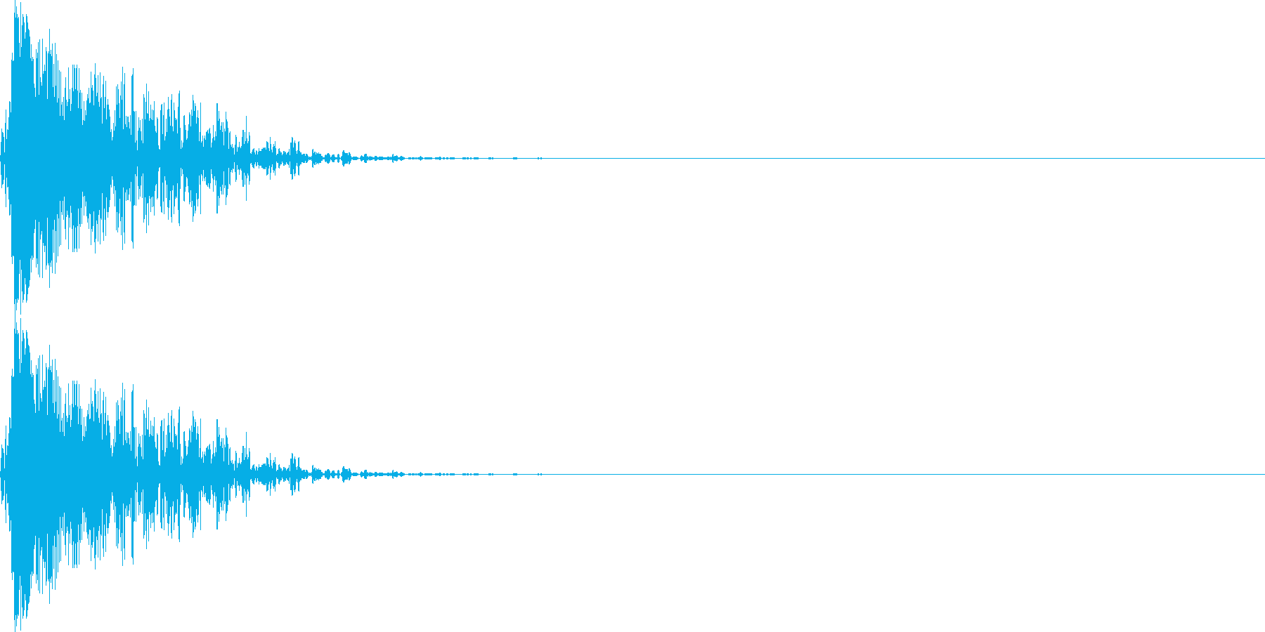 ブン(マイナスイメージ_ミス_短い)の再生済みの波形