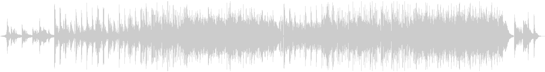 【深海】をイメージしたピアノの旋律の未再生の波形