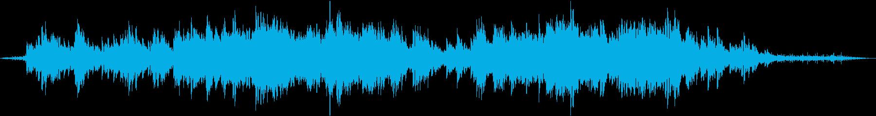 鳥の声と水の音が流れる癒し系BGMの再生済みの波形
