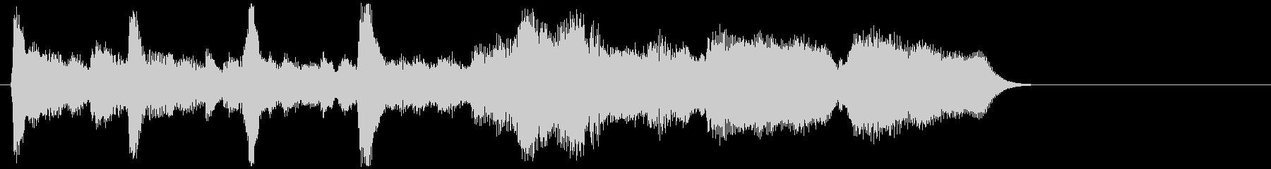 切ない雰囲気のストリングスアンサンブルの未再生の波形