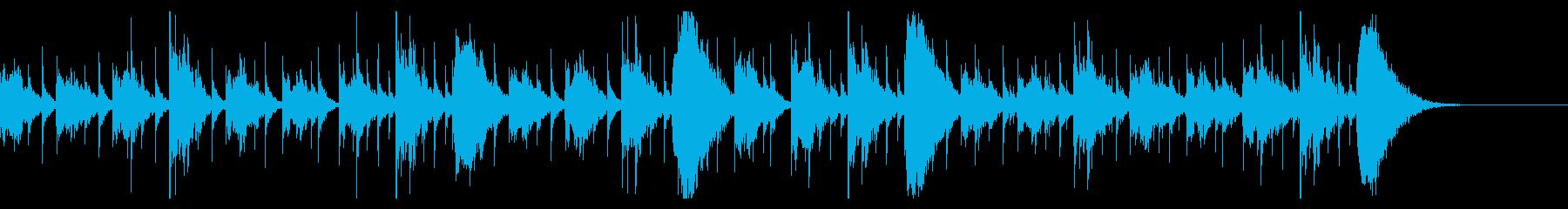 和風テイストのホラー系テクスチャの再生済みの波形
