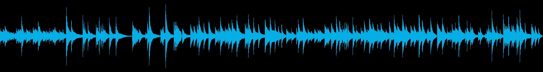 ジャズのバラード曲の再生済みの波形
