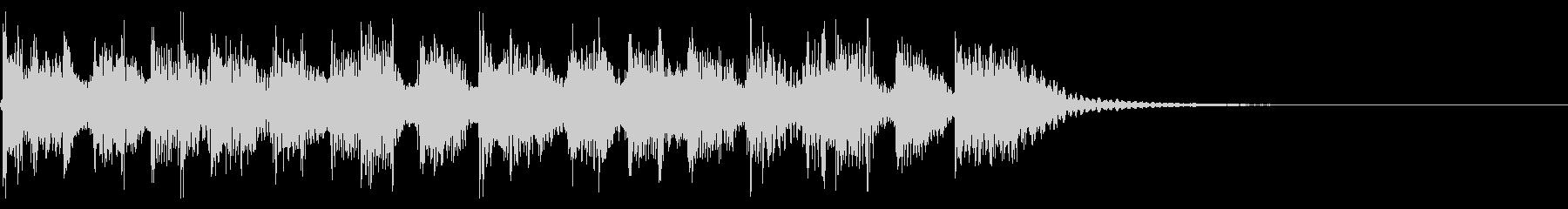 インパクトあるロックなジングル17の未再生の波形