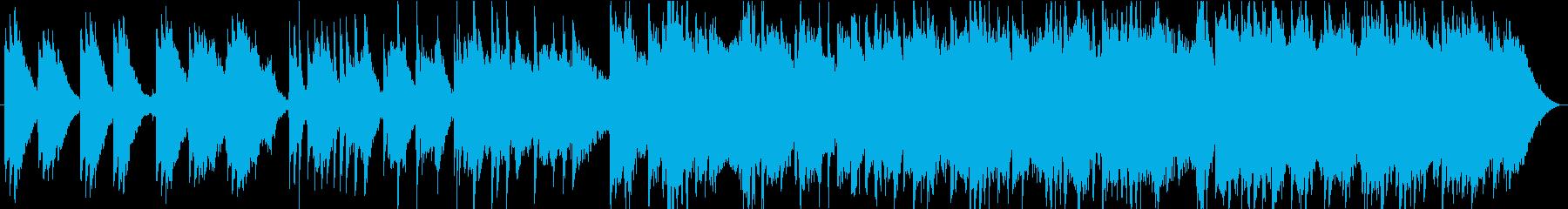 温かいエレピとピアノの癒し系BGMの再生済みの波形