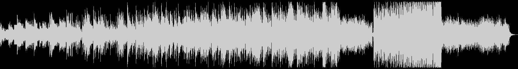 緩やかに盛り上がるピアノセンチメンタル曲の未再生の波形