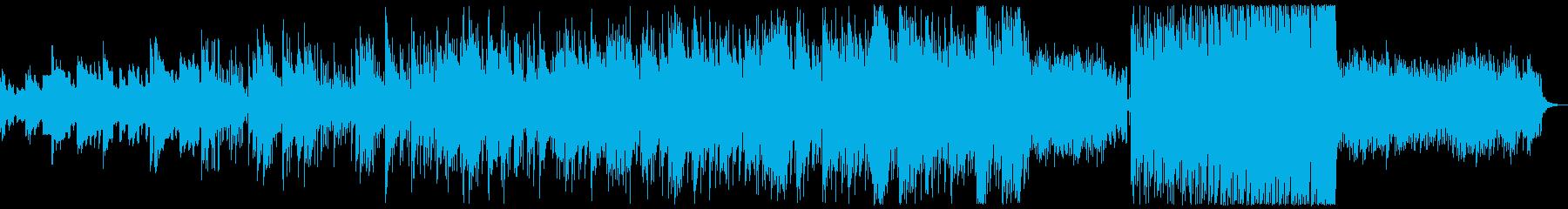 緩やかに盛り上がるピアノセンチメンタル曲の再生済みの波形