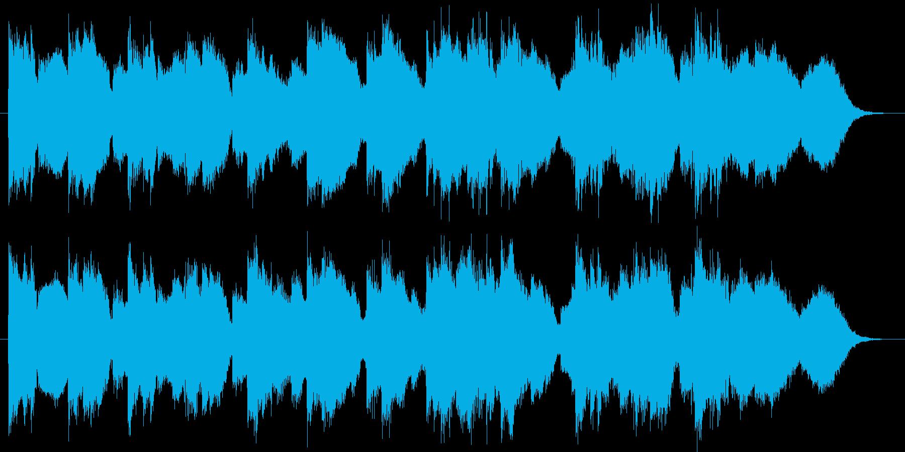48秒の曲の再生済みの波形