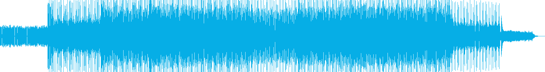 カッコイイ現代的なロックミュージック03の再生済みの波形