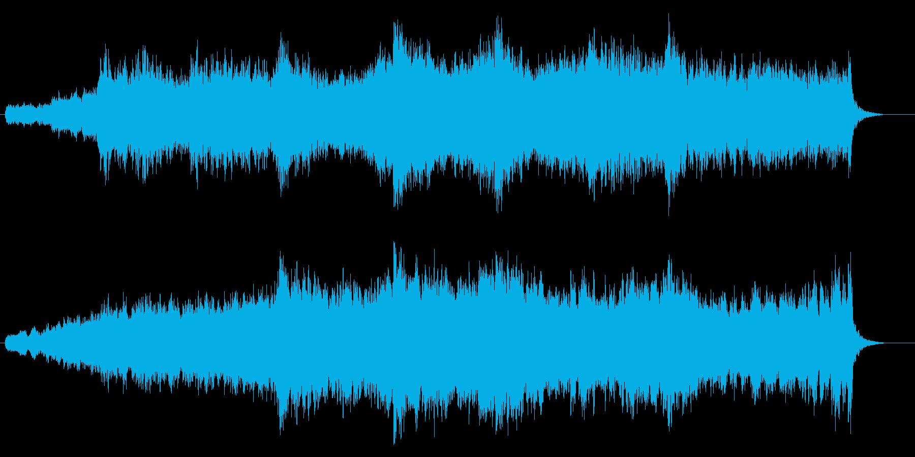 朝日を連想する3連符のケルトの再生済みの波形
