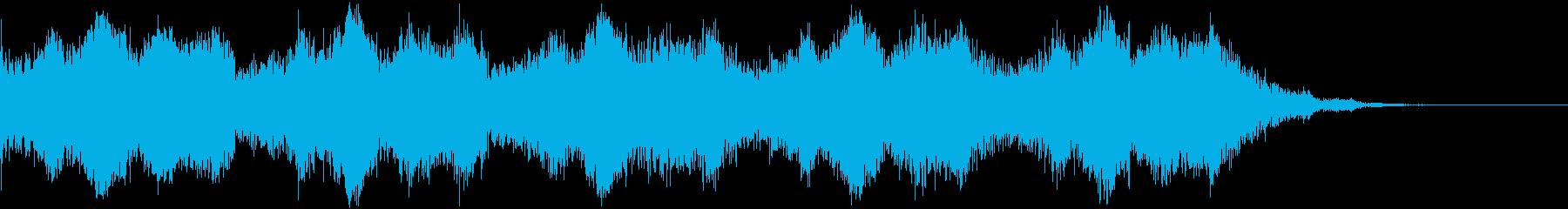強風(強い風の音)の再生済みの波形