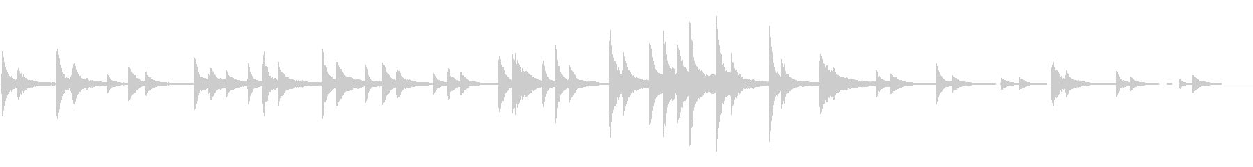 【ピアノ曲】ゆったり壮大なイメージの未再生の波形