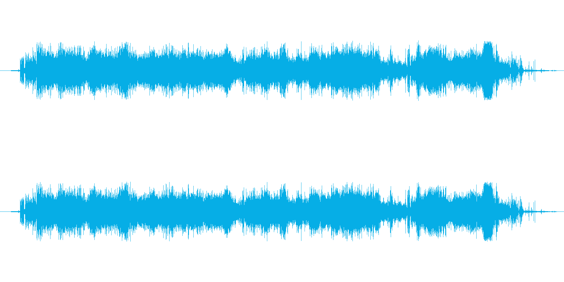 スケボー走る時のジャージャーと鳴る音の再生済みの波形