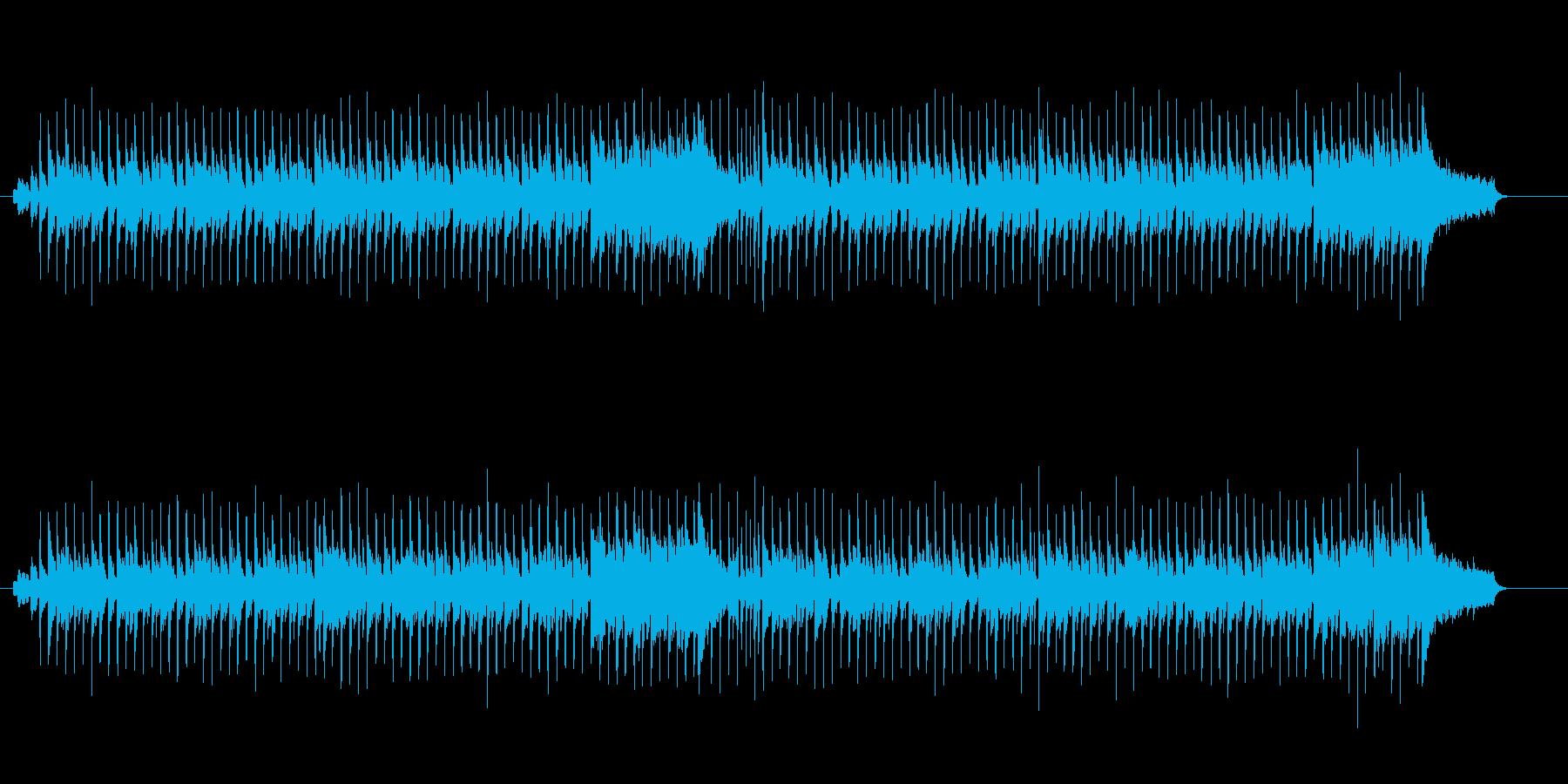 晴れやかな感じのポップスの再生済みの波形
