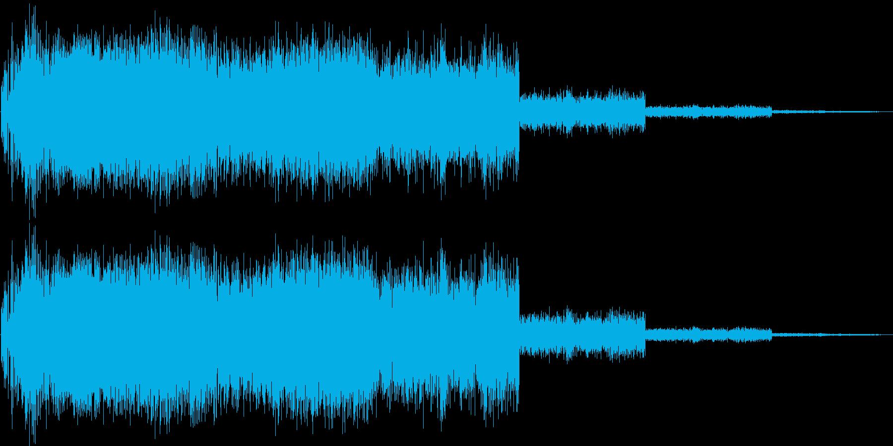 怪しい雰囲気の攻撃音 ビシャーンの再生済みの波形